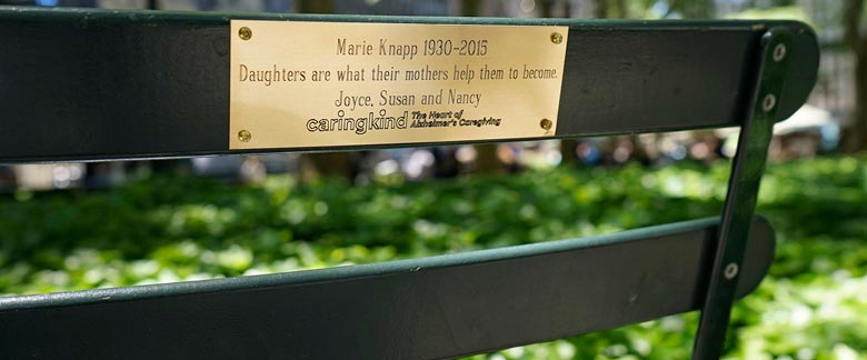Bryant Park Memory Chair Program